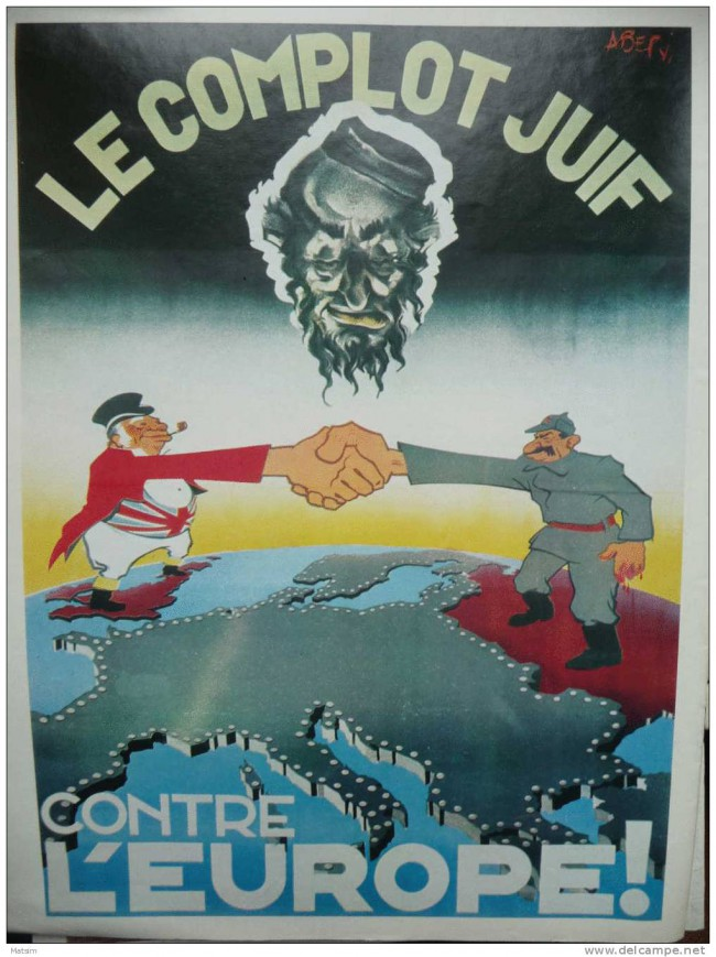 affiche antisémite collaboration