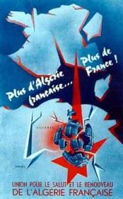 affiche de propagande Algérie française