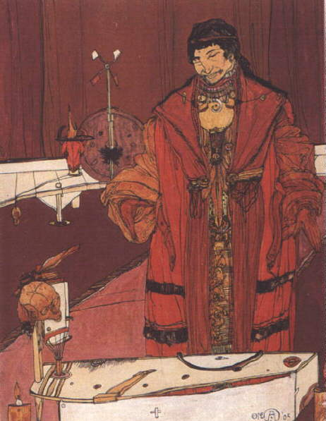 Sorcier, peinture d'Austin Osman Spare (1905)