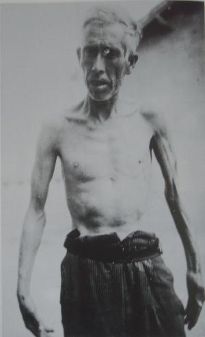 interné espagnol au camp de Rivesaltes (1940)