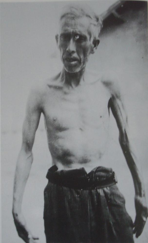 interné espgnol au camp de Rivesaltes (1940)