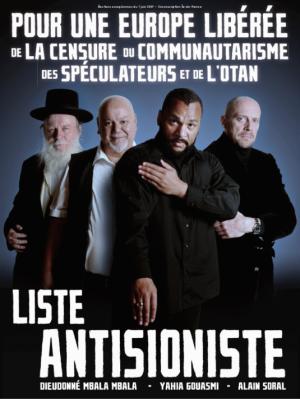 Affiche de la Liste antisioniste (Dieudonné Soral)
