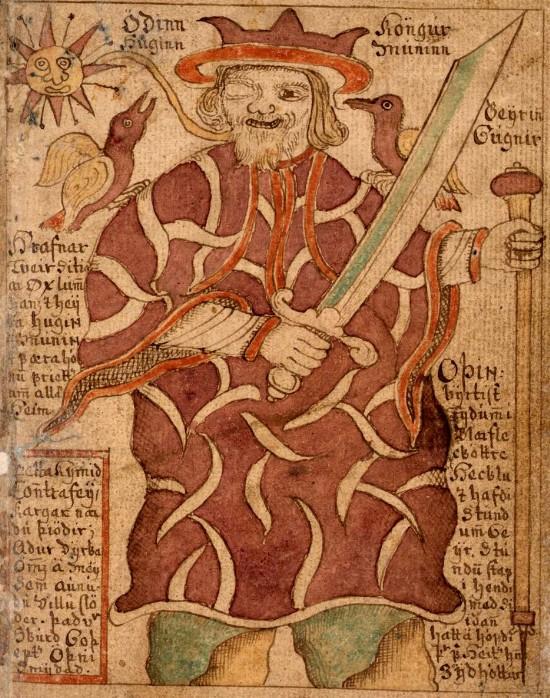 Représentation d'Odin et des Eddas