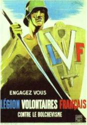 Affiche de Legion des Volontaires Français contre le Bolchevisme