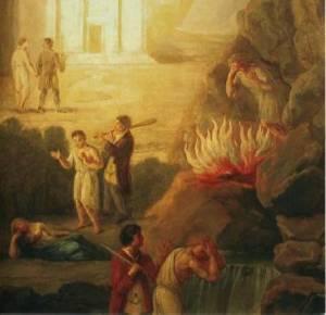 Initiation maçonnique toile du XIX (source hiram.be)