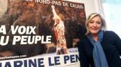 Marine Le Pen et son affiche de campagne [source RTBF]