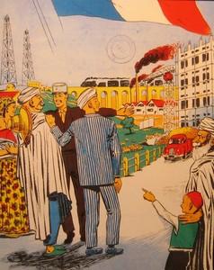 algérie vivra française Affiche de propagande Source Paris8