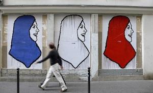 Fresque Hijab France [source France24]
