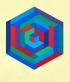 Vasarely [un hexagone en abyme]