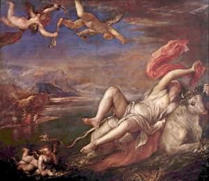 Enlevement d' Europe par Titien [1525]