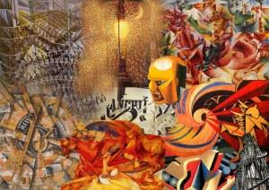 collage futurismo