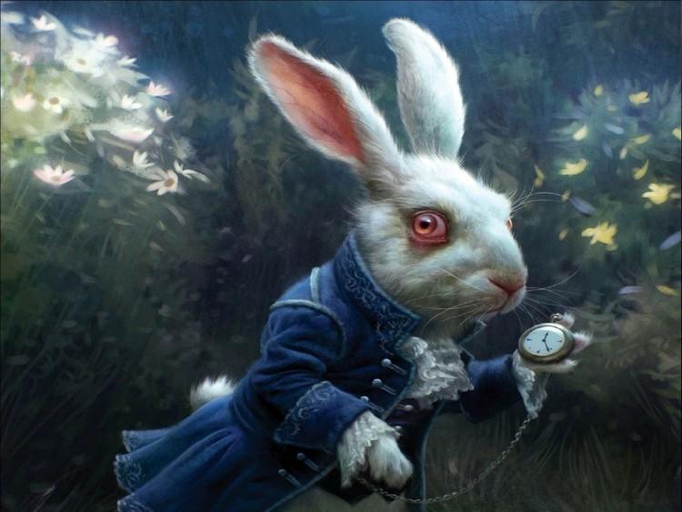 Animation-Comédie-Adventure-Film-Fantastique-Computer-Alice-au-pays-des-merveilles-Lapin-blanc