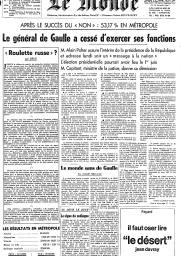 """Le dernier éditorial de """"Sirius"""" sur de Gaulle"""