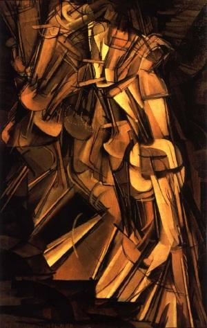Marcel Duchamp Homme descendant escalier