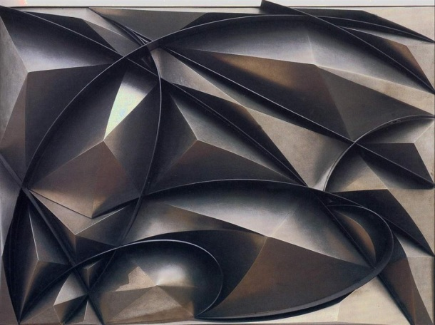 Giacomo Balla, Plastic Construction of Noise and Speed, 1915  Polymer Construction