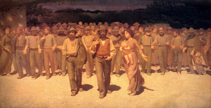 Quarto Stato (« Le Quart-État »), peinture de Giuseppe Pellizza, 1901.