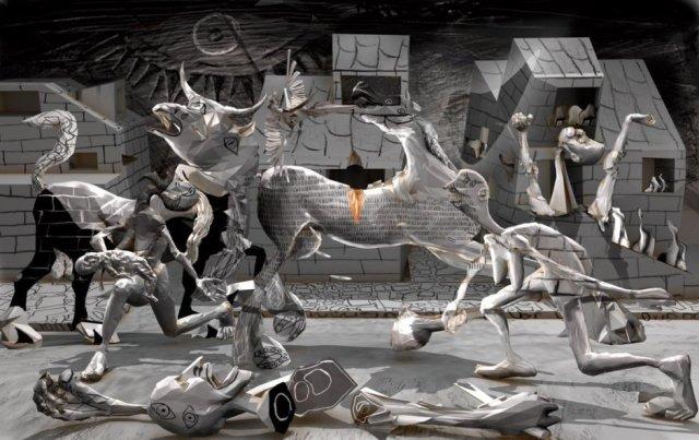 Hommage à Guernica par Polygonist (DeviantArt)