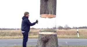 Peinture landart et trompe-l'oeil par Daniel Siering et Mario Schuster