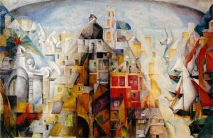 Paysage synthétique de la ville de Dieppe