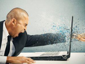 computer cassé