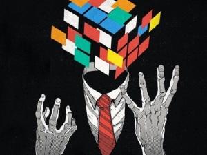 homme rubik cube