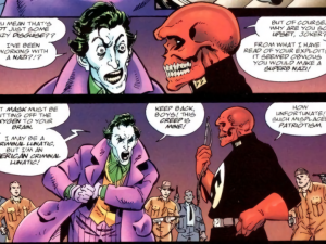 joker crâne rouge
